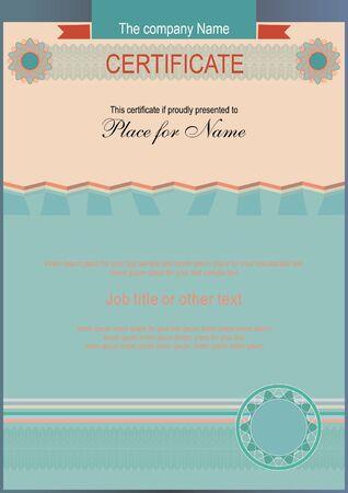 official: Official modern certificate