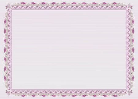 official: Pink official certificate.
