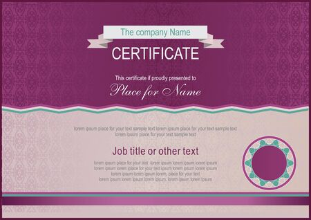 claret: Claret-colored certificate. Official blank