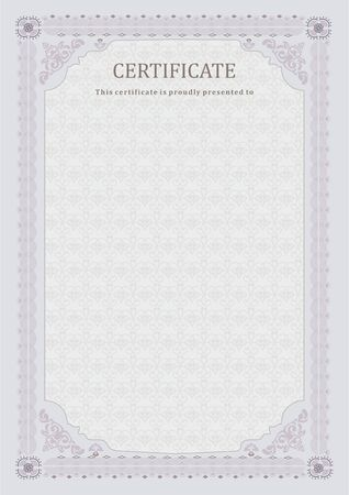 tint: grey certificate. Light official blank