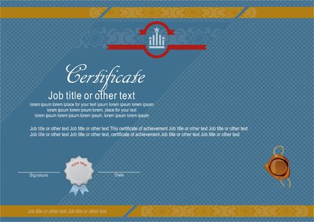 official: Blue official certificate