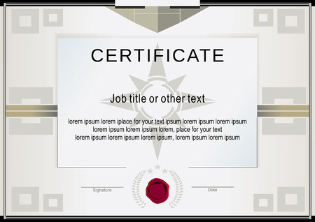 beige: Beige official certificate and wafer