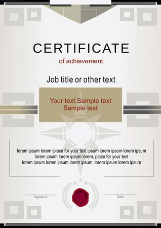 wafer: Beige official certificate and wafer