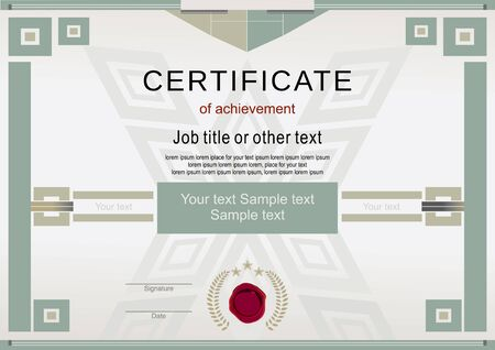official: Official modern certificate and wafer