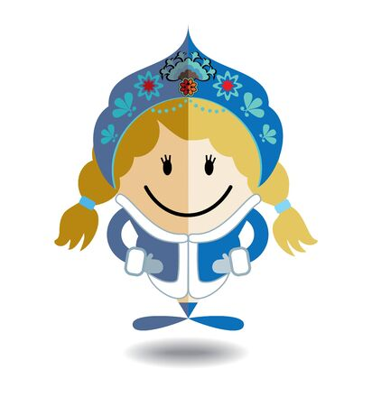 snow maiden: Snow Maiden map pin icon. Christmas girl. Pointer map
