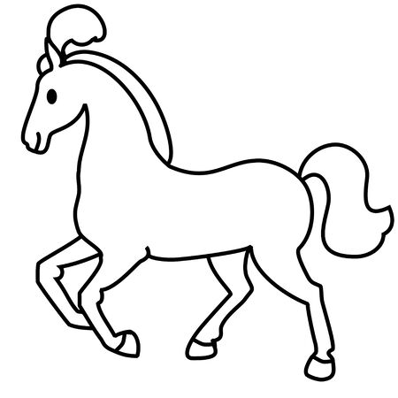 simple: Simple line drawing. Horse