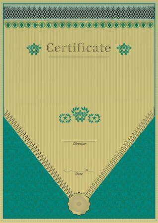 dark green: Dark green certificate