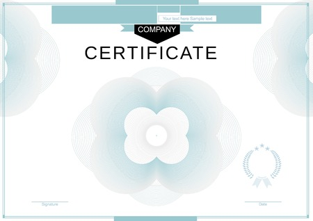 official: Official white certificate Illustration