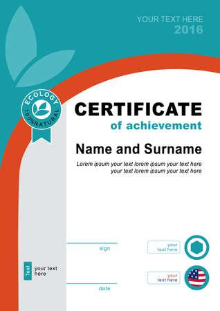 brutal: Ecology official certificate. Brutal background