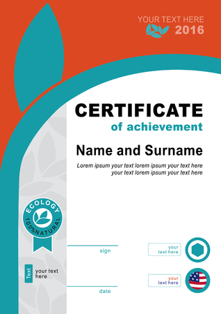 brutal: Ecology official certificate. Flat background