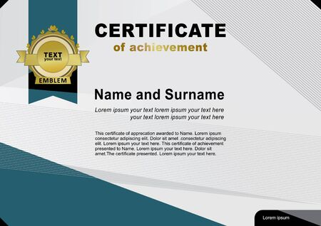 are modern: Modern certificate. Abstract background Illustration