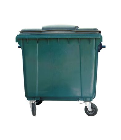 dumpster: Dumpster isolated. Trash can on the white background