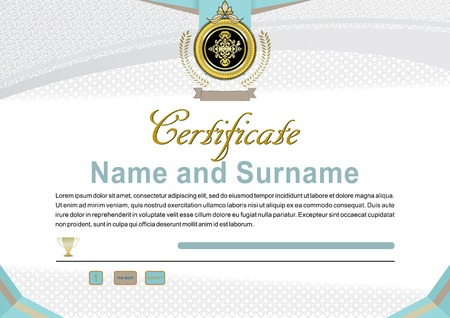 official: White official certificate