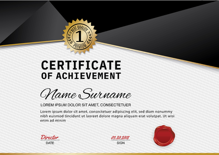 Official Certificate Of Appreciation Award Template With Black
