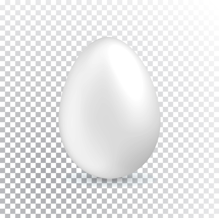 White Easter egg on transparent background. Easter Banner. Çizim