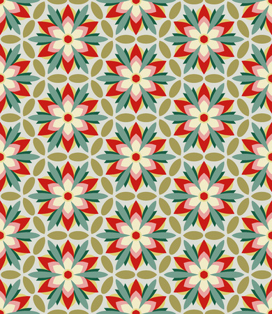 Flower geometry pattern for fabric, clothes