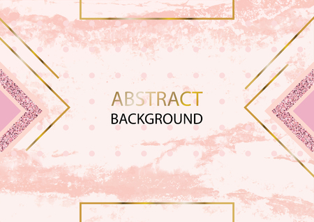 Pink gold vector marble background for wedding, cosmetic, 8 march, parfume shops