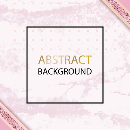 Pink vector grunge background with black thin square for wedding, cosmetic, 8 march, parfume shops