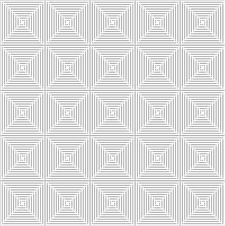 Thin black square seamless pattern.