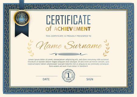 Vintage ornamental border certificate. Business simple design. Vector illustration Vektorgrafik
