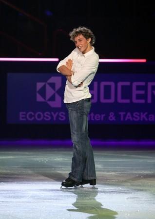 PARIS - OCTOBER 18: Adam RIPPON of USA performs at Gala event of the ISU Grand Prix Eric Bompard Trophy on October 18, 2009 at Palais-Omnisports de Bercy, Paris, France.