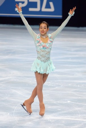 prix: PARIS - OCTOBER 16: Mao ASADA of Japan performs at ladies short skating event of the ISU Grand Prix Eric Bompard Trophy on October 16, 2009 at Palais-Omnisports de Bercy, Paris, France.