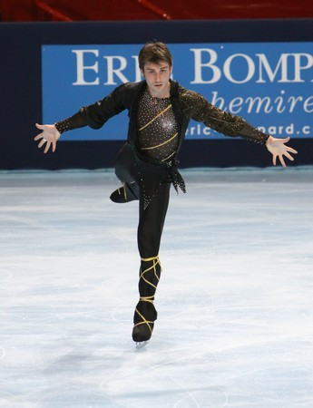 PARIS - OCTOBER 17: Brian JOUBERT of France performs at mens free skating event of the ISU Grand Prix Eric Bompard Trophy on October 17, 2009 at Palais-Omnisports de Bercy, Paris, France.