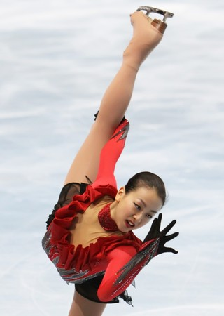 mao: PARIS - OCTOBER 17: Mao Asada of Japan performs at ladies free skating event at Eric Bompard Trophy October 17, 2009 at Palais-Omnisports de Bercy, Paris, France.