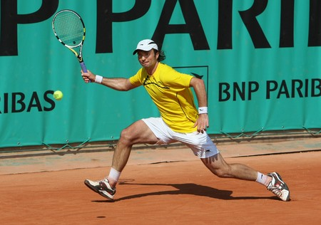 yuri: PARIS - MAY 21: Yuri SCHUKIN of Kazakhstan in action at French Open, Roland Garros qualification 3rd round match on May 21, 2010 in Paris, France.