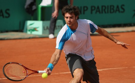 simone: PARIS - MAY 21: Simone BOLELLI of Italy in action at French Open, Roland Garros qualification 3rd round match on May 21, 2010 in Paris, France.