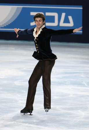 PARIS - OCTOBER 17: Ryan BRADLEY of USA performs at mens free skating event of the ISU Grand Prix Eric Bompard Trophy on October 17, 2009 at Palais-Omnisports de Bercy, Paris, France.