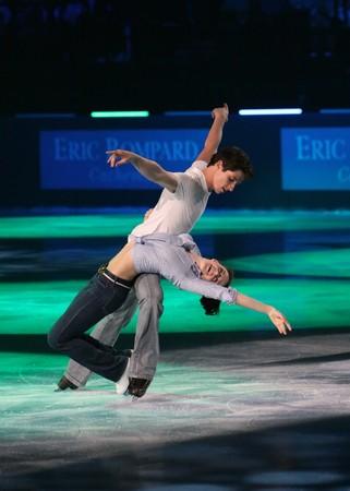 scott: PARIS - OCTOBER 18: Tessa VIRTUE and Scott MOIR of Canada perform at the Gala event of the ISU Grand Prix Eric Bompard Trophy October 18, 2009 at Palais-Omnisports de Bercy, Paris, France.