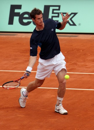 andy: PARIS - MAY 23: Andy Murray of Great Britain in action at French Open, Roland Garros on May 23, 2009 in Paris, France. Editorial