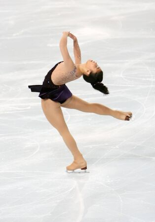figure skater: American figure skater Beatrisa LIANG during the Ladies short skating event of the Eric Bompard Figure Skating trophy on November 14, 2008 at the Palais-Omnisports de Paris-Bercy, France. This is Beatrisas short program as of season 20082009.
