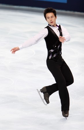 Canadian figure skater Patrick Chan during the Men short skating event of the Eric Bompard Figure Skating trophy on November 14, 2008 at the Palais-Omnisports de Paris-Bercy in Paris This is Patricks short program as of season 20082009