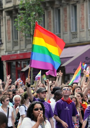 PARIS - JUNE 27: Thousand of people took part in the Paris Gay Pride parade to support gay rights, on June 27, 2009 in Paris, France.