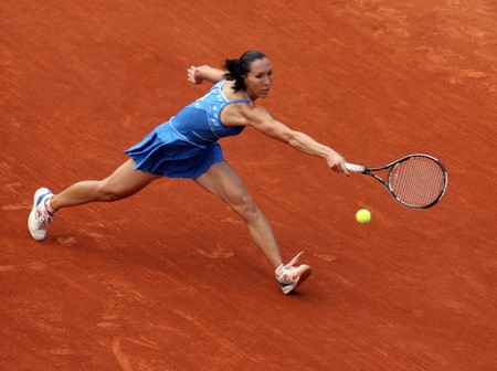 PARIS - JUNE 1: Jelena Jankovic of Serbia in action at French Open, Roland Garros on June 1, 2009 in Paris, France.