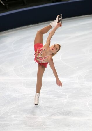 figure skates: Canadian figure skater Joannie ROCHETTE during the Ladies short skating event of the Eric Bompard Figure Skating trophy on November 14, 2008 at the Palais-Omnisports de Paris-Bercy, France. This is Joannies short program as of season 20082009.