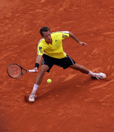 PARIS - JUNE 1: Philipp Kohlschreiber of Germany in action at French Open, Roland Garros on June 1, 2009 in Paris, France.