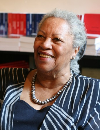 PARIS - MAY 12: Toni Morrison, a Nobel Prize-winning American author, editor, and professor during the autograph session in the L'arbre a Lettres bookstore on May, 12, 2009 in Paris, France Stock Photo - 7737306