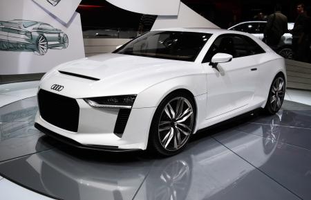 Paris October 11 Audi Quattro Concept Is Displayed At The Stock