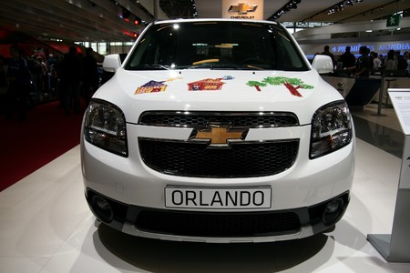 PARIS - OCTOBER 14: Chevrolet Orlando is displayed during the Paris Motor Show 2010 at Porte de Versailles, on October 14, 2010 in Paris, France Stock Photo - 7996626