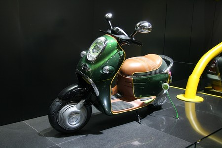 Paris October 11 Mini Scooter E Concept In British Racing Stock