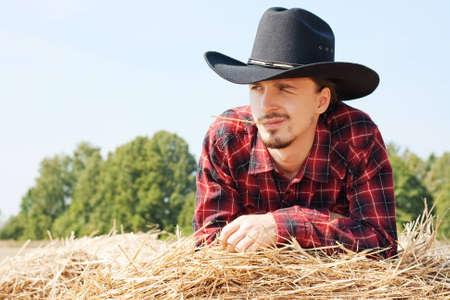 Cowboy in the Hay