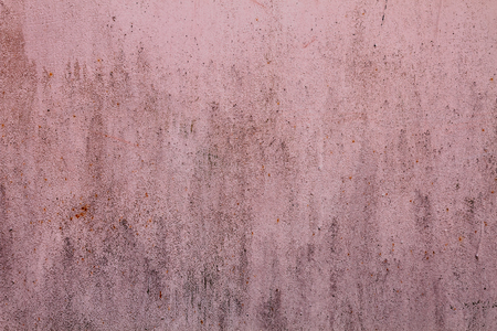 Old grunge vintage background: pink rusty metal surface