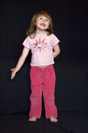 proving: Little girl making a speech, asking for something with passion or proving her position