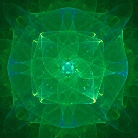 futurictic: Green Futurictic geometric background
