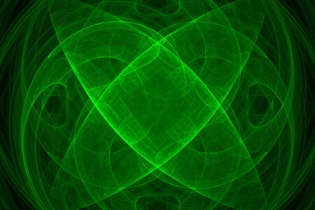 Abstract green fractal background over black Stock Photo - 2240965