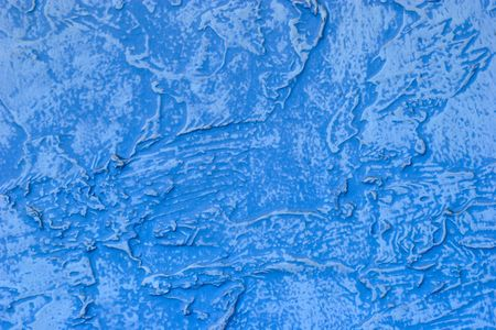 textured wall: Fragment of textured painted blue wall Stock Photo