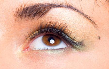 birthmark: Single Girls eye with beauty makeup